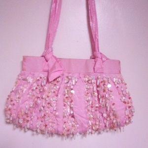 Handbags - NWOT Satin beaded shoulder bag